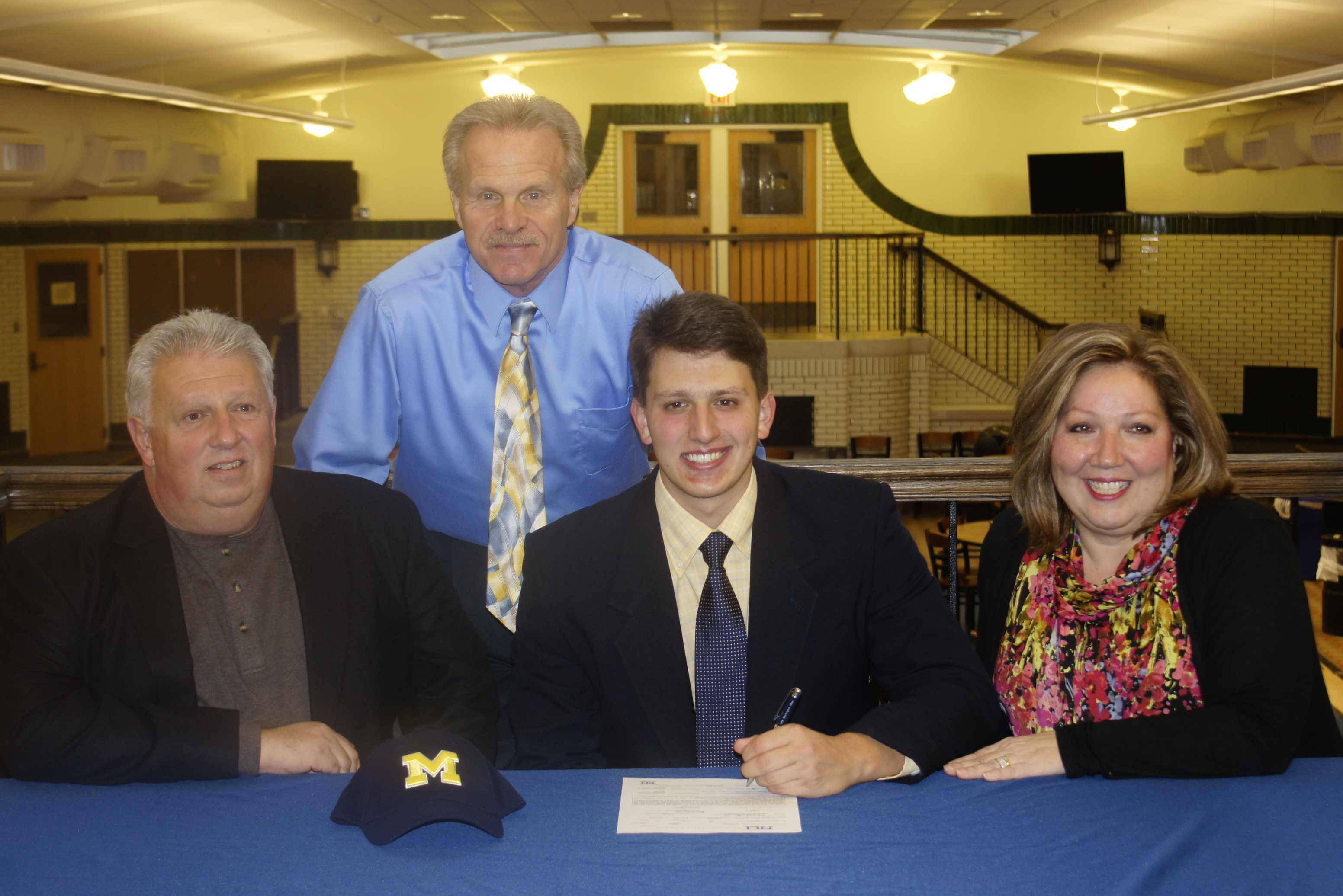 "Carmen Benedetti '13 signed to play baseball for the University of Michigan on Tuesday, Nov. 14. ""It is a terrific honor and I'm really excited to play for the maize and blue in 2013,"" said Benedetti."