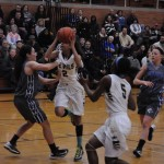 Aliezza Brown '15 going for the layup