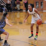 Bre'nae Andrews '14 on offense