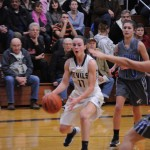 Katie Kish '15 taking the ball inside