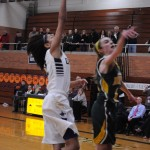 Aliezza Brown '15 for the layup