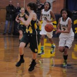 Aliezza Brown '15 taking the ball on offense