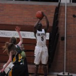 Cierra Rice '15 shooting the three pointer