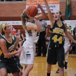 Cydney Webb '15 going up for the basket