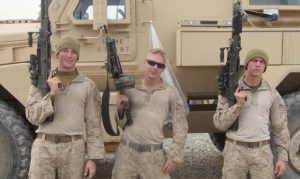 Photo Courtesy of Matt Rajt| Serving as a gunner in Afghanistan, Rajt poses with members of his Combined Anti Armor Team one with Third Battalion Sixth Marines out of Camp Lejeune, North Carolina