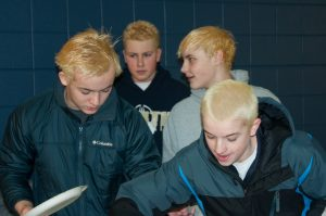 Members Of Boys Swim Team Bleach Hair For Upcoming Meets The Tower